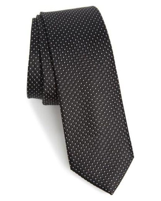 Calibrate | Black Nordstrom Men's Shop Hammond Neat Silk Tie for Men | Lyst