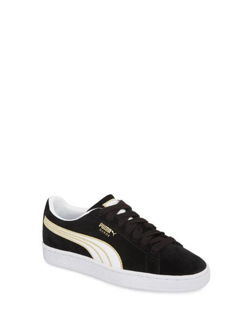 PUMA - Black Varsity Stripe Sneaker - Lyst