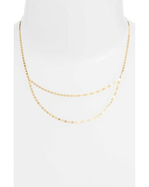Lana Jewelry - Metallic Blake Double Layer Long Necklace - Lyst