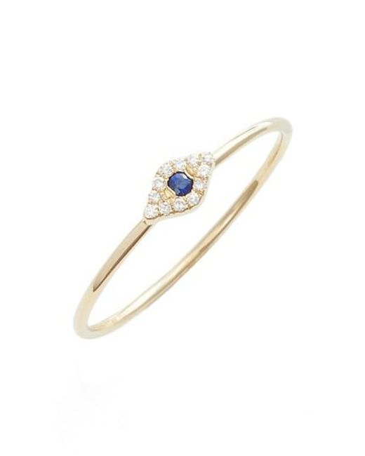 EF Collection - Metallic Evil Eye Diamond & Sapphire Stack Ring - Lyst
