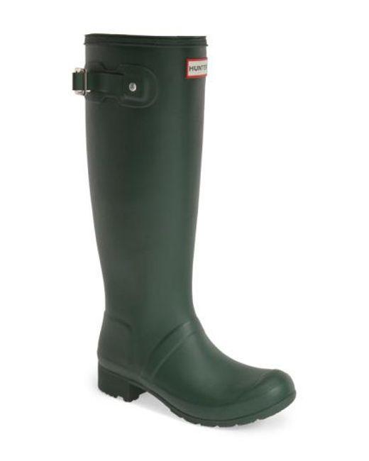 Hunter - 'tour' Packable Rain Boot, Green - Lyst