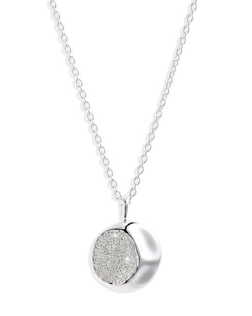 Ippolita - Metallic Onda Diamond Pendant Necklace - Lyst
