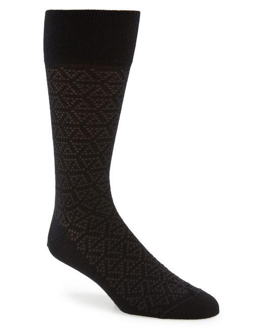 John W. Nordstrom - Black John W. Nordstrom Pointed Triangle Socks for Men - Lyst