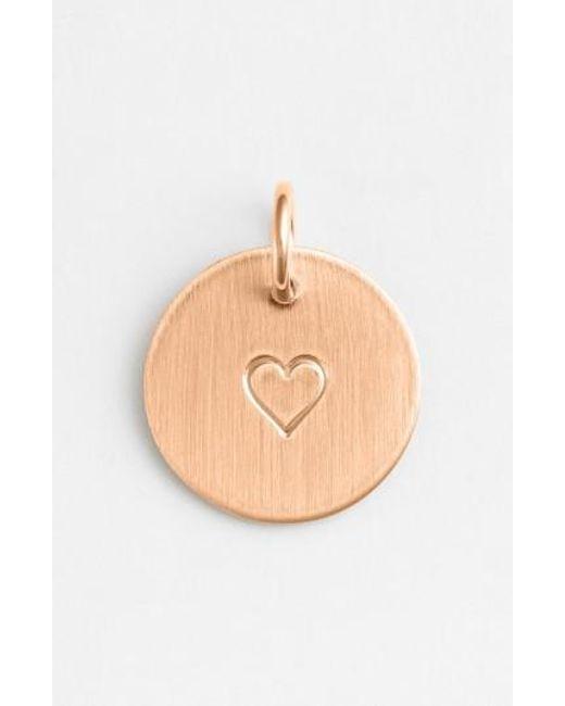 Nashelle | Metallic Heart Stamp Charm | Lyst