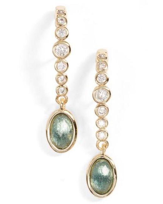 Melinda Maria | Metallic Extended Drop Earrings | Lyst