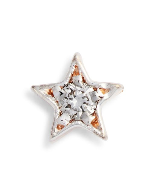 Kismet by Milka - Metallic Single Diamond Star Stud Earring - Lyst