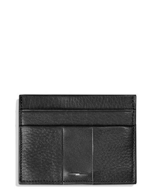 Shinola - Black Bolt Leather Card Case for Men - Lyst
