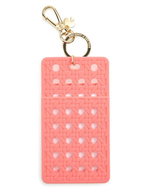 Kate Spade - Pink Coral Id Clip - Coral - Lyst
