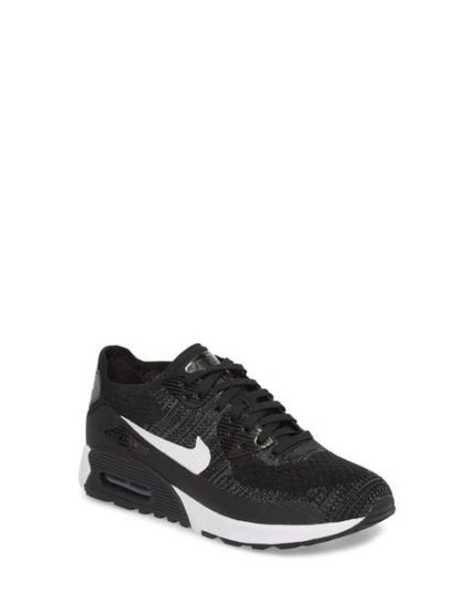lyst nike air max 90 flyknit ultra scarpe da ginnastica in nero per gli uomini.
