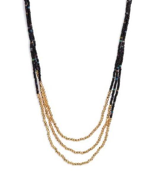 Gorjana - Black Sayulita Multistrand Necklace - Lyst