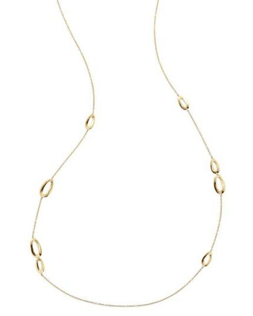 Ippolita - Metallic Cherish Bond 18k Gold Station Necklace - Lyst