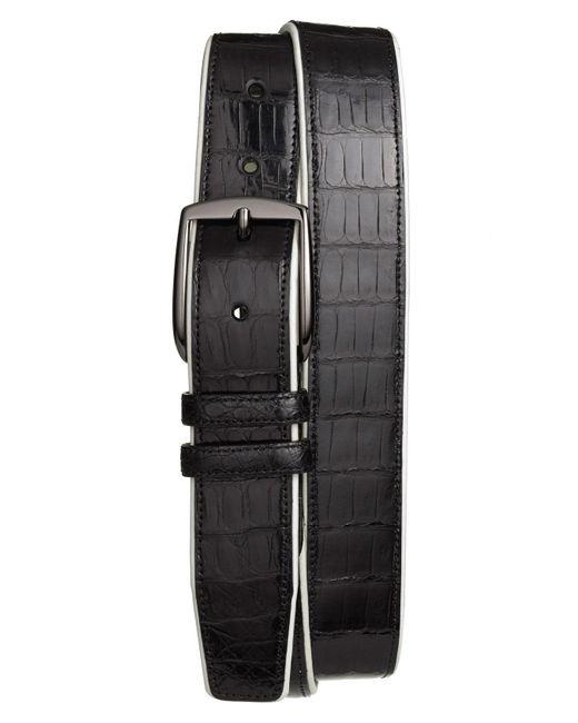 Mezlan - Black 'saratoga' Genuine Crocodile Leather Belt for Men - Lyst