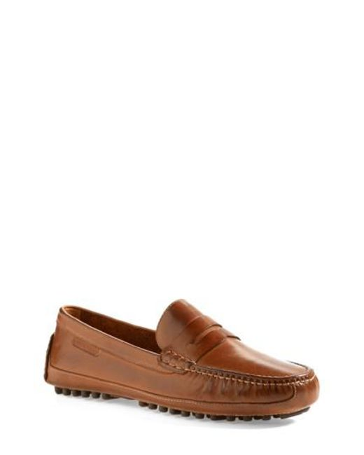 Cole Haan | Brown 'grant Canoe' Penny Loafer for Men | Lyst