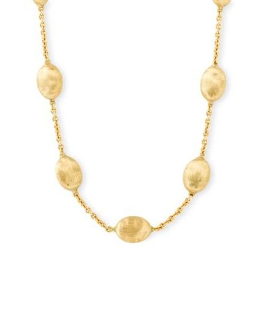 Marco Bicego | Yellow 'siviglia' Station Necklace | Lyst
