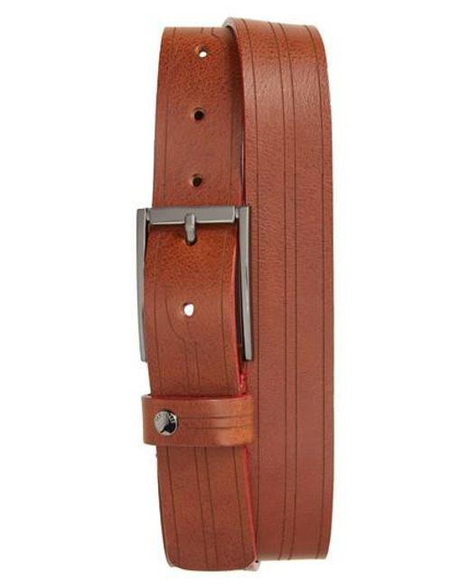 Ted Baker | Brown Magno Leather Belt for Men | Lyst