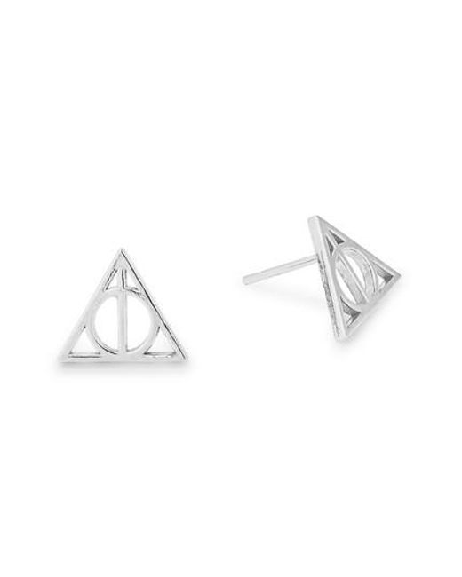 ALEX AND ANI - Metallic Harry Pottertm Deathly Hallowstm Sterling Silver Stud Earrings - Lyst