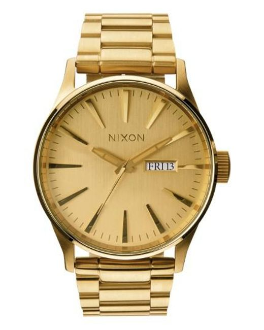 Nixon - Metallic Sentry Bracelet Watch - Lyst