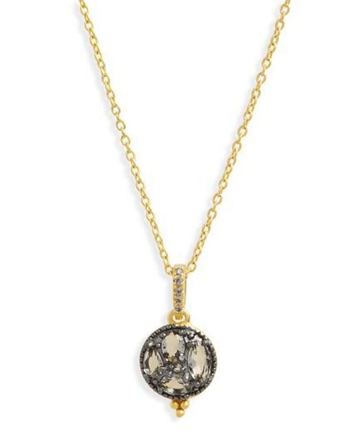 Freida Rothman Rose Dor Fringe Charm Necklace ohyvywZ7Bw