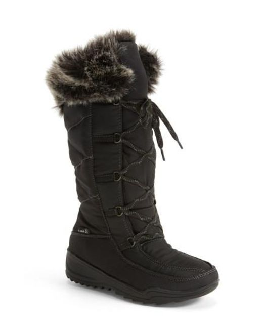 Kamik - Black 'Porto' Waterproof Winter Boot - Lyst