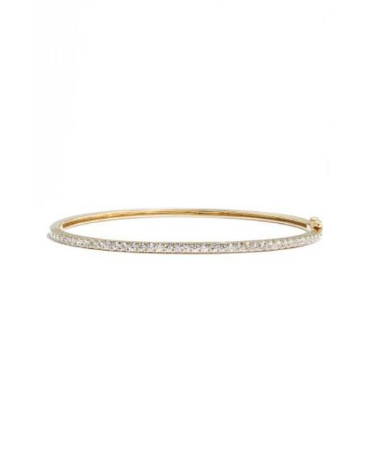 Bony Levy   Metallic 'stackable' Large Skinny Diamond Bangle (nordstrom Exclusive)   Lyst