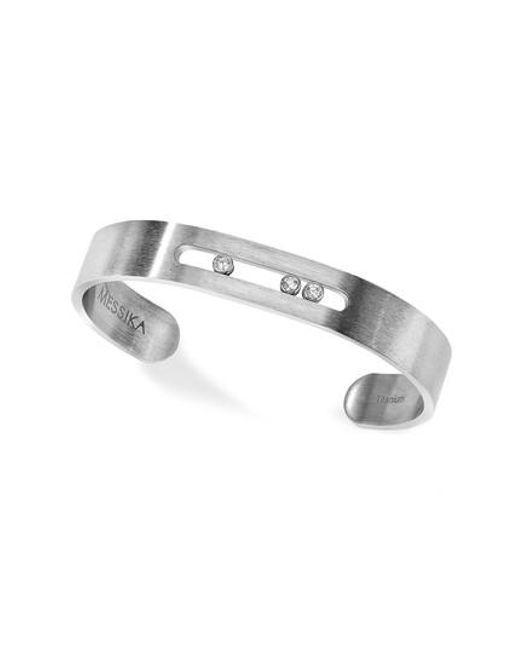 Messika | Metallic Titanium Move Diamond Cuff for Men | Lyst