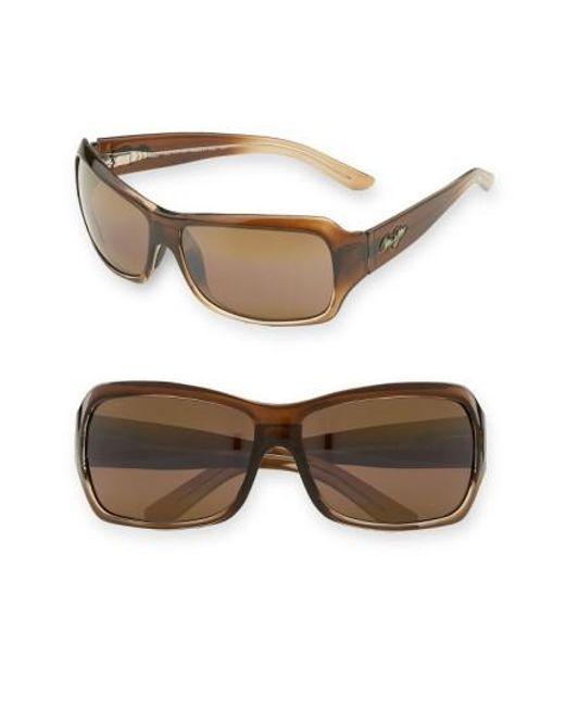 Maui Jim   Brown Palms 63mm Polarizedplus2 Sunglasses   Lyst