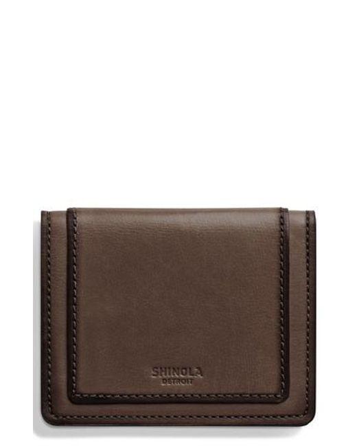 Shinola - Brown Outlaw Folding Card Case - for Men - Lyst