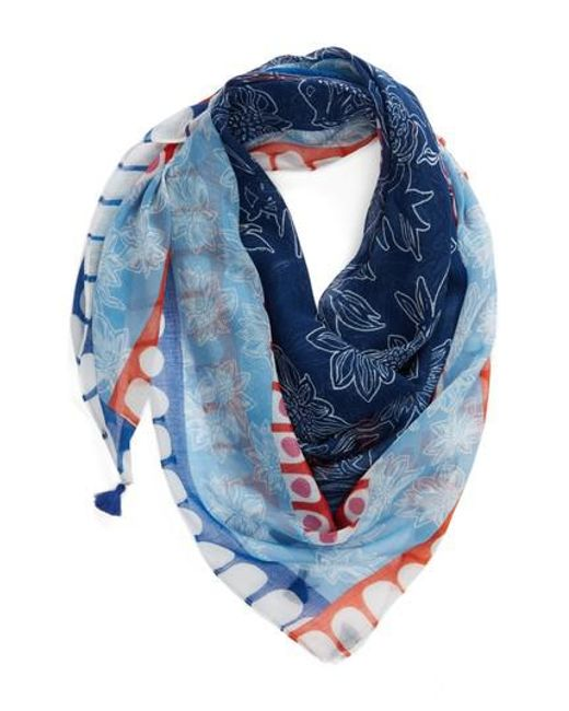 Echo - Blue Deloraine Square Scarf - Lyst