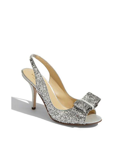 Kate Spade | Metallic 'charm' Slingback Pump | Lyst