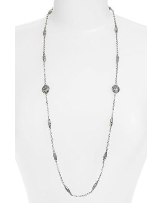 Konstantino | Metallic 'silver Classics' Long Filigree Station Necklace | Lyst