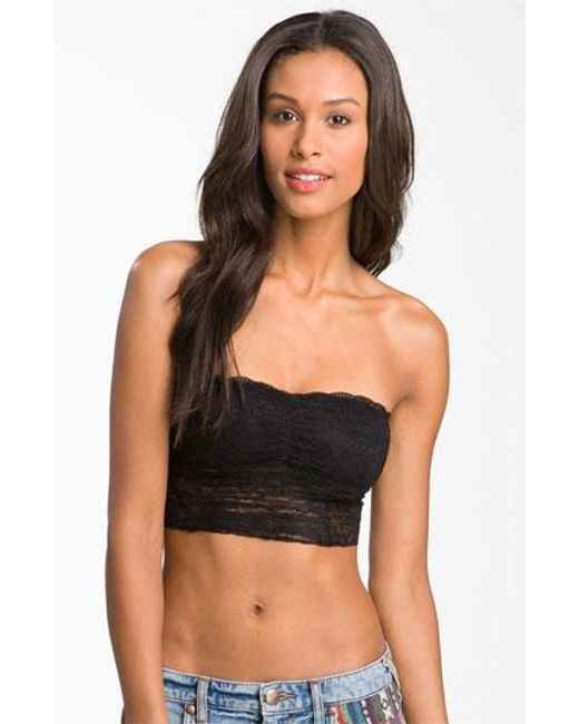 Free People   Black Galloon Lace Bandeau   Lyst