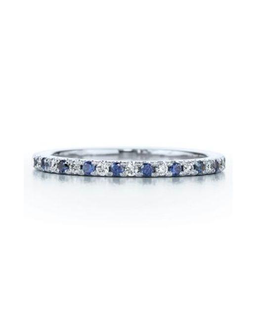 Kwiat | Metallic Diamond & Sapphire Stackable Ring | Lyst