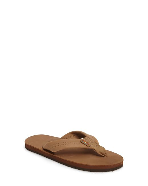 Rainbow Sandals Multicolor Wide Strap Leather Thong Sandals