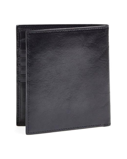 Bosca Black Old Leather Card Wallet for men