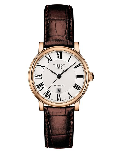 Tissot Metallic Carson Automatic Leather Strap Watch