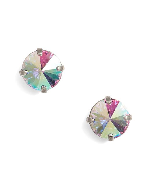 Sorrelli - Blue Radiant Crystal Stud Earrings - Lyst