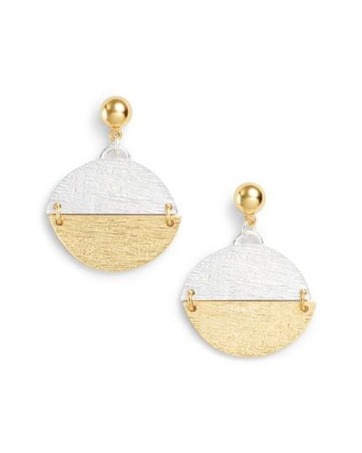 Karine Sultan | Metallic Pendant Drop Earrings | Lyst