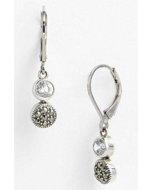 Judith Jack | Metallic Marcasite Earrings | Lyst