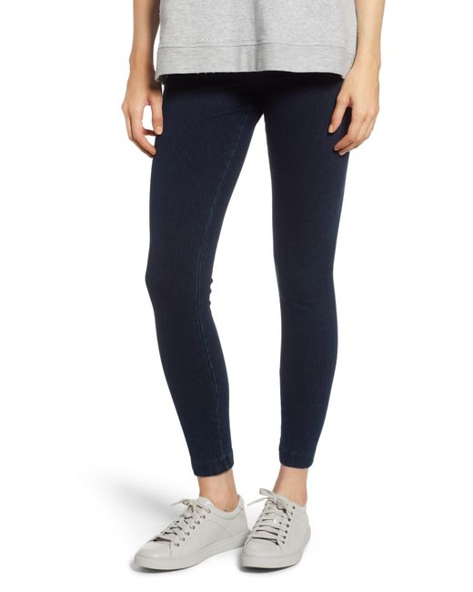 Lyssé Blue High Waist Denim Leggings
