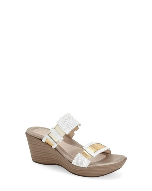 Naot | White Treasure Leather Sandals | Lyst