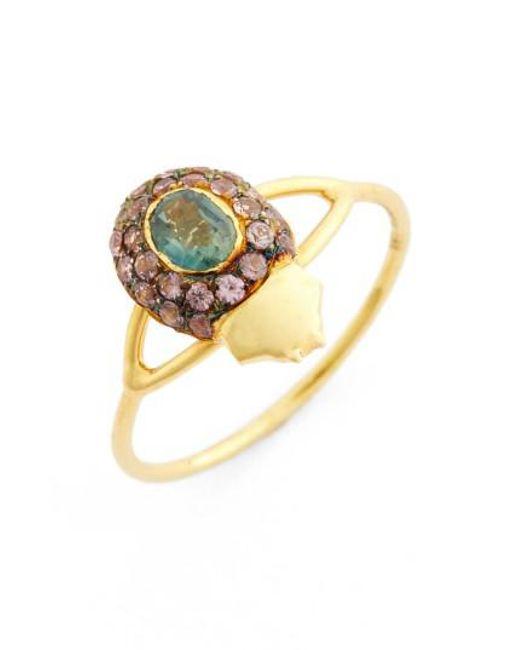 Daniela Villegas - Yellow 'maat' Sapphire Ring - Lyst