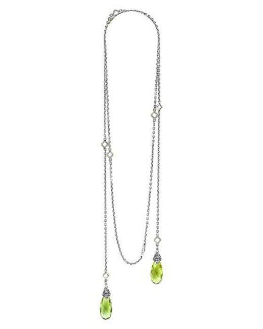 Lagos | Green 'caviar Color' Semiprecious Stone Lariat Necklace | Lyst