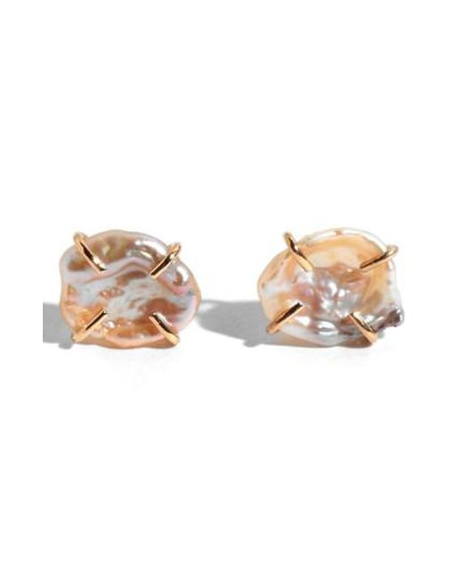 Melissa Joy Manning | Metallic Keshi Pearl Stud Earrings | Lyst