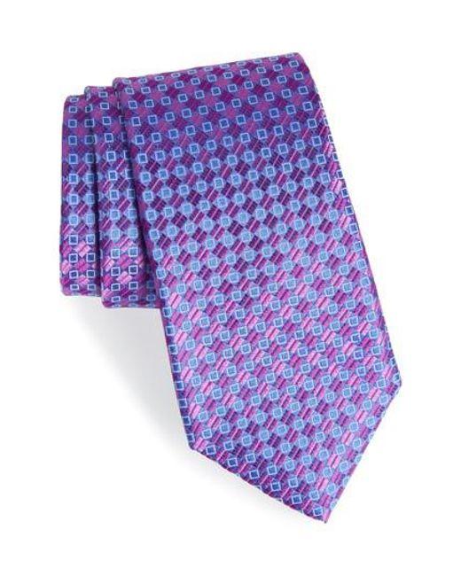 Nordstrom - Purple Middletown Geometric Silk Tie for Men - Lyst