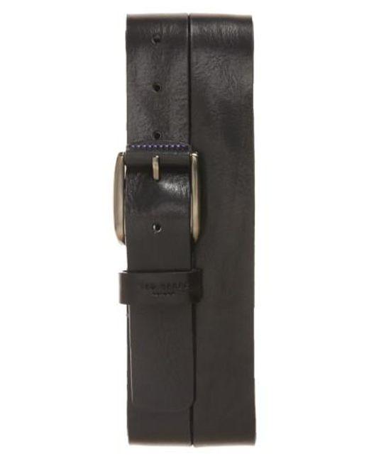 Ted Baker | Black 'jean' Leather Belt for Men | Lyst