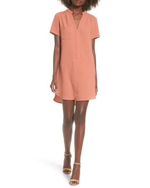 Lush | Orange Hailey Crepe Dress | Lyst