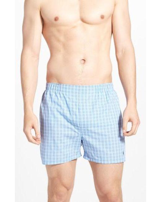 Polo Ralph Lauren | 3-pack Woven Cotton Boxers, Blue for Men | Lyst