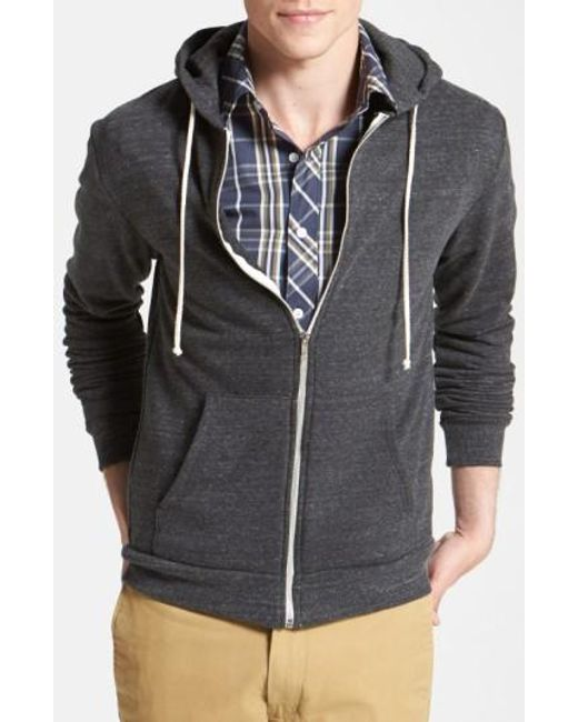 Threads For Thought | Gray Trim Fit Heathered Hoodie for Men | Lyst