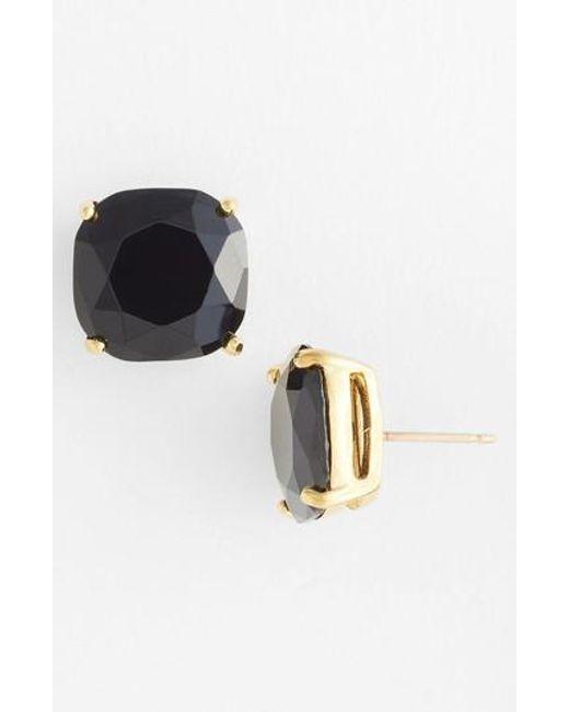 Kate Spade | Black Mini Small Square Semiprecious Stone Stud Earrings | Lyst