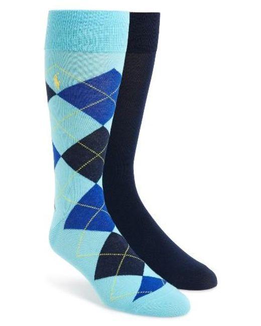 Polo Ralph Lauren   Blue Cotton Blend Socks for Men   Lyst